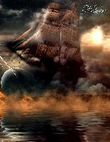 Cover-Bild zu Sternenfeuer, Samuriel: Fantasy Notizbuch: Wolkenschiff - weiße Seiten mit Eckmotiv