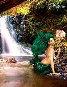 Cover-Bild zu Sternenfeuer, Samuriel: Fantasy Notizbuch: Tjirell, die Meerjungfrau - weiße Seiten mit Eckmotiv
