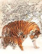 Cover-Bild zu Sternenfeuer, Samuriel: Fantasy Notizbuch 14: Tiger im Schnee