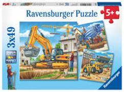 Cover-Bild zu Ravensburger Kinderpuzzle - 09226 Große Baufahrzeuge - Puzzle für Kinder ab 5 Jahren, mit 3x49 Teilen