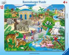 Cover-Bild zu Ravensburger Kinderpuzzle - 06661 Besuch im Zoo - Rahmenpuzzle für Kinder ab 4 Jahren, mit 45 Teilen