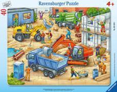 Cover-Bild zu Ravensburger Kinderpuzzle - 06120 Große Baustellenfahrzeuge - Rahmenpuzzle für Kinder ab 4 Jahren, mit 40 Teilen