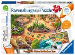 Cover-Bild zu Ravensburger tiptoi Spiel 00051 Puzzle für kleine Entdecker: Zoo - 2x12 Teile Kinderpuzzle ab 3 Jahren, für Jungen und Mädchen, 1 Spieler