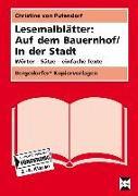 Cover-Bild zu Lesemalblätter: Auf dem Bauernhof / In der Stadt von Pufendorf, Christine von