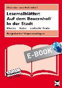 Cover-Bild zu Lesemalblätter: Auf dem Bauernhof / In der Stadt (eBook) von Pufendorf, Christine von