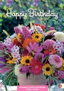 Cover-Bild zu Happy Birthday - Geburtstagskalender Blumen