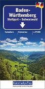 Cover-Bild zu Hallwag Kümmerly+Frey AG (Hrsg.): Baden Württemberg - Stuttgart, Schwarzwald, Nr. 7. 1:275'000