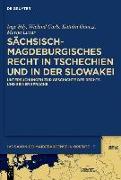 Cover-Bild zu Sächsisch-magdeburgisches Recht in Tschechien und in der Slowakei (eBook)