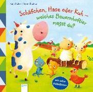 Cover-Bild zu Richert, Katja: Schäfchen, Hase oder Kuh - Welches Bauernhoftier magst du?