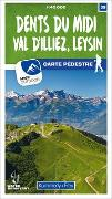 Cover-Bild zu Hallwag Kümmerly+Frey AG (Hrsg.): Dents du Midi, Val d'Illiez, Leysin 39 Wanderkarte 1:40 000 matt laminiert. 1:40'000