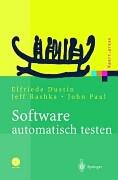 Cover-Bild zu Software automatisch testen von Dustin, Elfriede