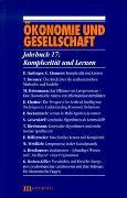 Cover-Bild zu Gijsel, Peter de (Hrsg.): Ökonomie und Gesellschaft / Komplexität und Lernen