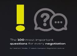 Cover-Bild zu Wachs, Friedhelm: The 100 most important questions for every negotiation (eBook)