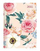 Cover-Bild zu ALPHA EDITION (Hrsg.): Mini-Buchkalender Style Roses 2022 - Taschen-Kalender A6 - Rose - Day By Day - 352 Seiten - Notiz-Buch - Alpha Edition