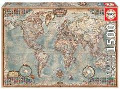 Cover-Bild zu Educa (Hrsg.): Educa Puzzle. Political Map of the World 1500 Teile