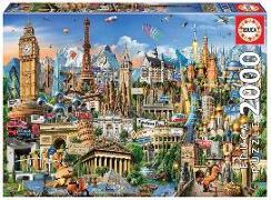 Cover-Bild zu Educa (Hrsg.): Educa Puzzle. Europe Landmarks 2000 Teile