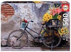 Cover-Bild zu Educa (Hrsg.): Educa Puzzle. Bicycle with Flowers 500 Teile