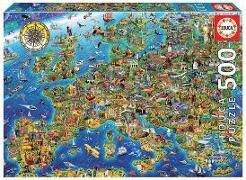 Cover-Bild zu Educa (Hrsg.): Educa Puzzle. Crazy European Map 500 Teile