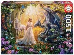 Cover-Bild zu Educa (Hrsg.): Educa Puzzle. Dragon, Princess and Unicorn 1500 Teile