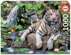 Cover-Bild zu Educa (Hrsg.): Educa Puzzle. Bengal White Tigers 1000 Teile
