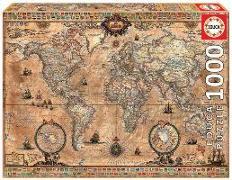 Cover-Bild zu Educa (Hrsg.): Educa Puzzle. Antique World Map 1000 Teile