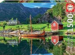 Cover-Bild zu Educa (Hrsg.): Educa Puzzle. Viking Ship 1500 Teile