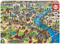 Cover-Bild zu Educa (Hrsg.): Educa Puzzle. London Map 500 Teile