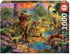 Cover-Bild zu Herausgegeben von Educa (Hrsg.): Educa Puzzle - Land of Dinosaurs 1000 Teile