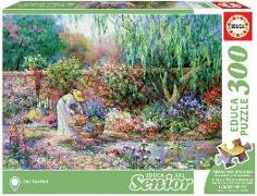Cover-Bild zu Educa (Hrsg.): Educa - Dame im Garten 300 Teile XXL Puzzle