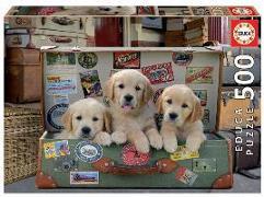 Cover-Bild zu Educa (Hrsg.): Educa - Hunde im Koffer 500 Teile Puzzle