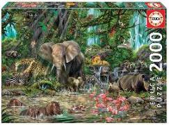 Cover-Bild zu Educa (Hrsg.): Educa - Dschungel 2000 Teile Puzzle