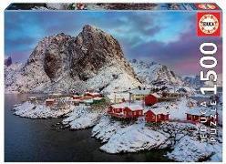 Cover-Bild zu Educa (Hrsg.): Educa - Lofoten-Inseln 1500 Teile Puzzle