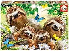 Cover-Bild zu Educa (Hrsg.): Educa - Faultierfamilie Selfie 500 Teile Puzzle