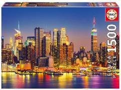 Cover-Bild zu Educa (Hrsg.): Educa - Manhattan bei Nacht 1500 Teile Puzzle