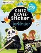 Cover-Bild zu Schindler, Eva (Gestaltet): Kritzkratz-Sticker Tierkinder