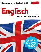 Cover-Bild zu Sprachkalender Englisch Kalender 2020 von Butz, Steffen