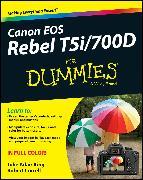 Cover-Bild zu Canon EOS Rebel T5i/700D For Dummies (eBook) von King, Julie Adair