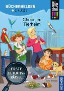 Cover-Bild zu Die drei !!!, Bücherhelden 2. Klasse, Chaos im Tierheim von Scheller, Anne