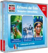 Cover-Bild zu WAS IST WAS 3-CD Hörspielbox. Extreme der Erde. Besondere Lebensräume von Tessloff Verlag Ragnar Tessloff GmbH & Co.KG (Hrsg.)