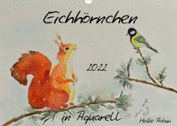 Cover-Bild zu Eichhörnchen in Aquarell (Wandkalender 2022 DIN A3 quer) von Adam, Heike