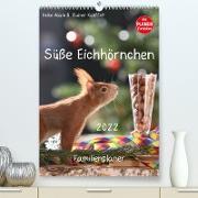 Cover-Bild zu Süße Eichhörnchen (Premium, hochwertiger DIN A2 Wandkalender 2022, Kunstdruck in Hochglanz) von Adam, Heike