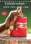 Cover-Bild zu Eichhörnchen - kleine Tiere, große Liebe (Tischkalender 2022 DIN A5 hoch) von Adam, Heike