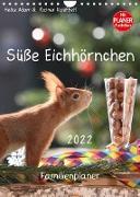 Cover-Bild zu Süße Eichhörnchen (Wandkalender 2022 DIN A4 hoch) von Adam, Heike