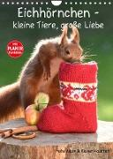 Cover-Bild zu Eichhörnchen - kleine Tiere, große Liebe (Wandkalender 2022 DIN A4 hoch) von Adam, Heike