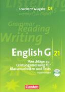 Cover-Bild zu English G 21. Erweiterte Ausgabe D5. Vorschläge zur Leistungsmessung für Klassenarbeiten und Tests. Kopiervorlagen mit CD von Biederstädt, Wolfgang (Hrsg.)