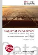 Cover-Bild zu Tragedy of the Commons von Surhone, Lambert M. (Hrsg.)