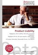 Cover-Bild zu Product Liability von Surhone, Lambert M. (Hrsg.)