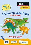 Cover-Bild zu Duden Leseprofi - 3-Minuten-Leserätsel für Erstleser: Vorsicht, Dinos! von Moll, Susanna
