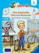 Cover-Bild zu Flos fabelhafte Fahrrad-Werkstatt - Leserabe ab 2. Klasse - Erstlesebuch für Kinder ab 7 Jahren von Gerhardt, Sven