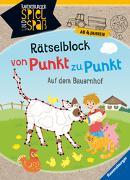 Cover-Bild zu Rätselblock von Punkt zu Punkt: Auf dem Bauernhof von Rist, Cornelia